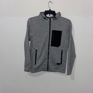 ABERCROMBIE & FITCH GREY HEATHER ZIP UP HOODIE XS